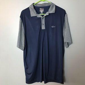 Greg Norman Men's Short Sleeves Polo Shirt L Blue